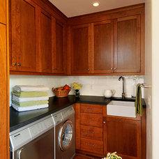 Traditional Laundry Room by Hamilton-Gray Design, Inc.