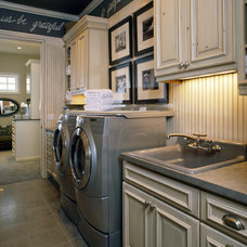 Traditional Laundry Room by KGA Studio Architects
