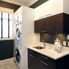 contemporary laundry room by Atmosphere Interior Design Inc.
