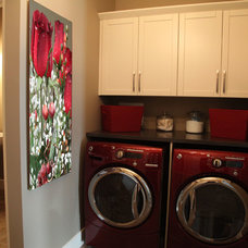 Contemporary Laundry Room by Milestone Homes