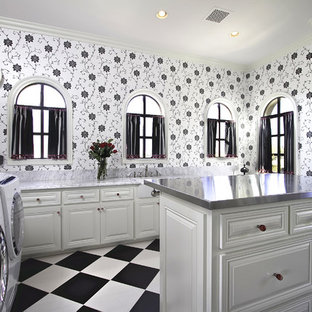 Black And White Laundry Room Ideas Houzz