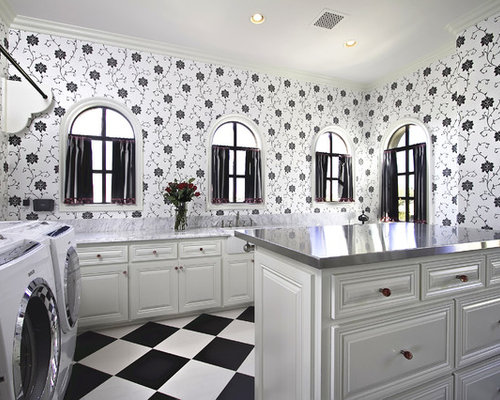 Black And White Wallpaper Houzz - Wallpaper for walls black and white