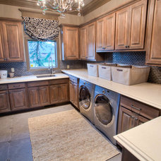 Transitional Laundry Room by Wyatt Poindexter of Keller Williams Elite