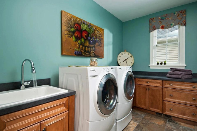 Traditional Laundry Room by Plum and Crimson Fine Interior Design