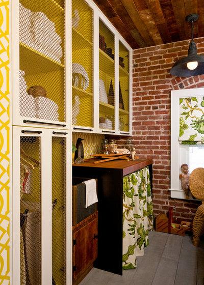 Rustic Laundry Room by Lisa Bakamis Interior Design