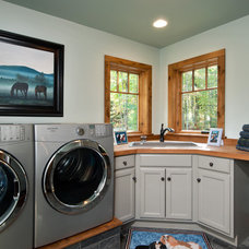 Contemporary Laundry Room by Witt Construction