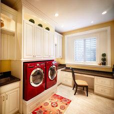 Traditional Laundry Room by Joe Carrick Design - Custom Home Design