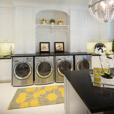 Transitional Laundry Room by Joe Carrick Design - Custom Home Design