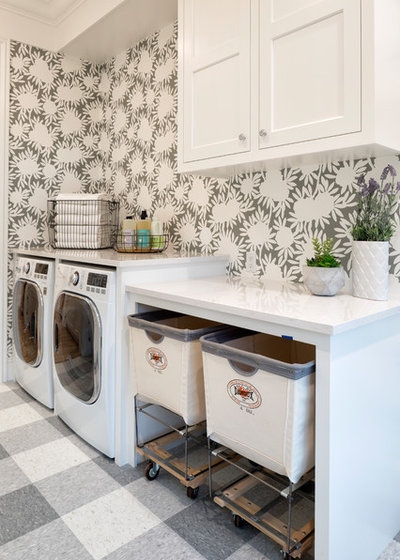 Transitional Laundry Room by Parade of Homes Twin Cities