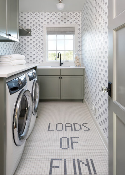 Traditional Laundry Room by BATC-Housing First Minnesota