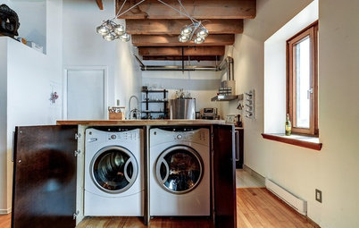 A Kitchen Laundry Cabinet Full of Surprises