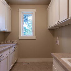 Contemporary Laundry Room by JayMarc Homes