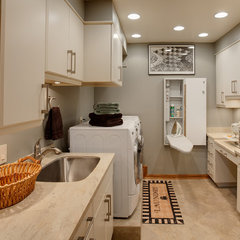contemporary laundry room by Drury Design