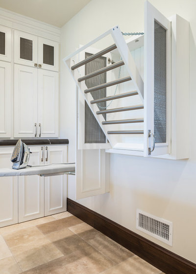 Rustic Laundry Room by Magleby Construction