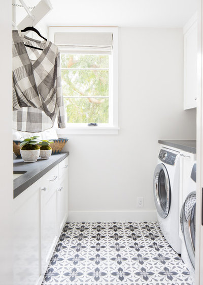 Beach Style Laundry Room by Teale Architecture