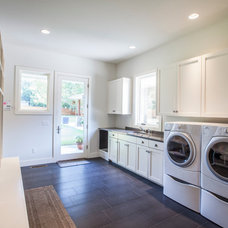 Transitional Laundry Room by Venture Architecture