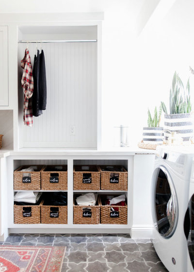 Transitional Utility Room by Design Shop Interiors