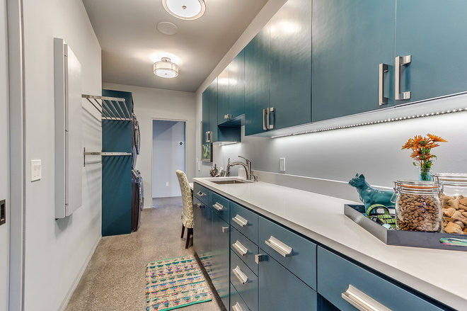 Contemporary Laundry Room by Castle Rock Granite Countertops