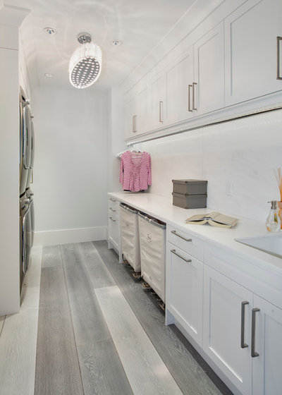 Transitional Laundry Room by Naples ReDevelopment, Inc.