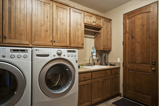 Mediterranean Laundry Room by The Matheson Team RE/MAX Fine Properties