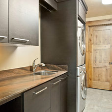 Contemporary Laundry Room by Jaffa Group Design Build