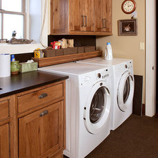 Rustic Laundry Room by Carissa Trygstad @ Showplace Kitchens