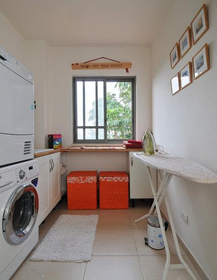 Contemporary Laundry Room by NURIT GEFFEN-BATIM STUDIO