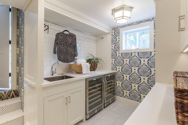 Transitional Laundry Room by Ann Lowengart Interiors