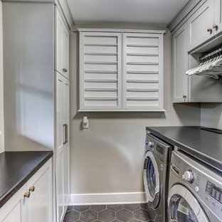 75 Most Por Small U-Shaped Laundry Room Design Ideas for 2019 ... U Shaped Kitchen With Washer And Dryer Designs on kitchen design with high ceilings, kitchen design with butcher block island, bathroom layout with washer dryer, kitchen design with microwave, kitchen design with lots of storage, kitchen with undercounter washer dryer, kitchen design with refrigerator, kitchen sink washer and dryer, kitchen design layout with washer dryer in it,