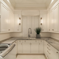 Transitional Laundry Room by Knapp Kitchens