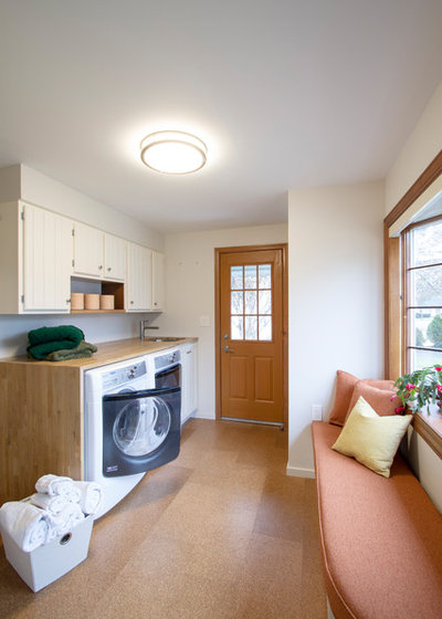 Transitional Laundry Room by Princeton Design Collaborative