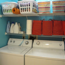 contemporary laundry room by AlexisAnne