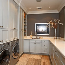 Traditional Laundry Room by Foremost Construction Inc