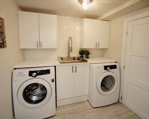 moderner hauswirtschaftsraum mit quarzit arbeitsplatte ideen f r waschk che haushaltsraum. Black Bedroom Furniture Sets. Home Design Ideas
