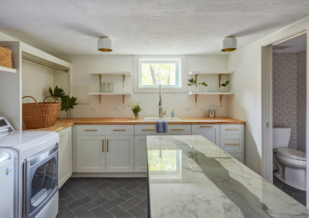 Transitional Laundry Room by The Kitchen Studio of Glen Ellyn