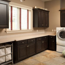 Traditional Laundry Room by Mullet Cabinet