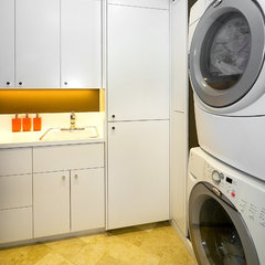 modern laundry room by Amoroso Design