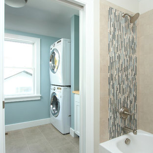 Example of a trendy laundry room design in Minneapolis