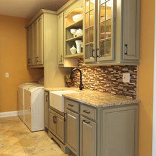 Traditional Laundry Room by Kitchen Sales Gallery