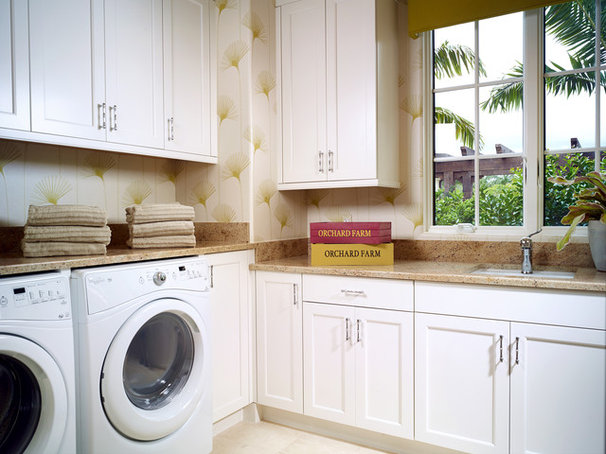 Tropical Laundry Room by London Bay Homes