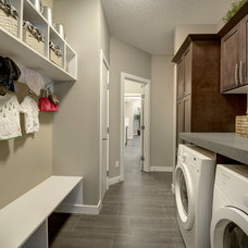 Transitional Laundry Room by Look Master Builder