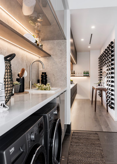 Contemporary Laundry Room by McCarthy Homes QLD