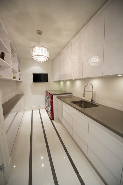 contemporary laundry room by Barroso Homes