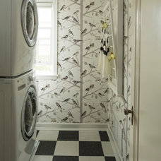 Eclectic Laundry Room by Lucy Interior Design