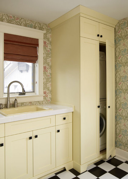 eclectic laundry room by Interior Works Inc