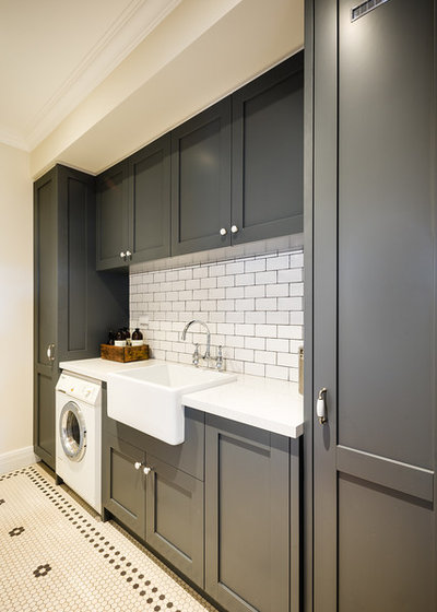 Traditional Laundry Room by Steding Interiors & Joinery