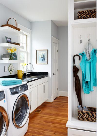 Transitional Laundry Room by WINN Design+Build