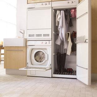 Ispirazione per una lavanderia minimalista