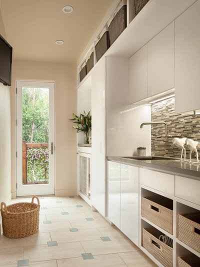 Contemporary Laundry Room by Agnieszka Jakubowicz PHOTOGRAPHY