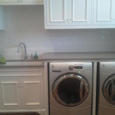 Traditional Laundry Room by Traditions in Tile